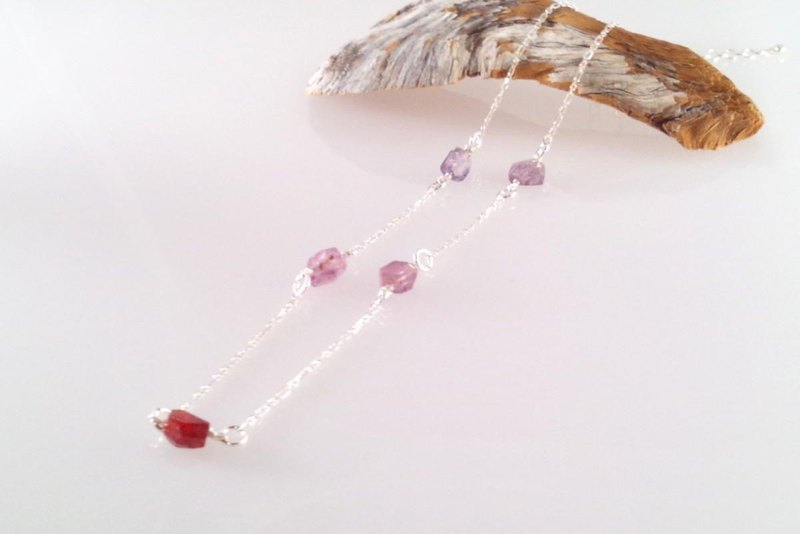 Spinel Ore Silver Necklace