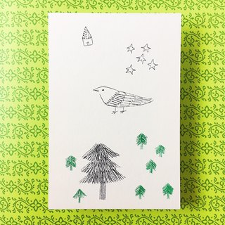 Free Shipping - Mimeograph 12postcard package - Summer forest