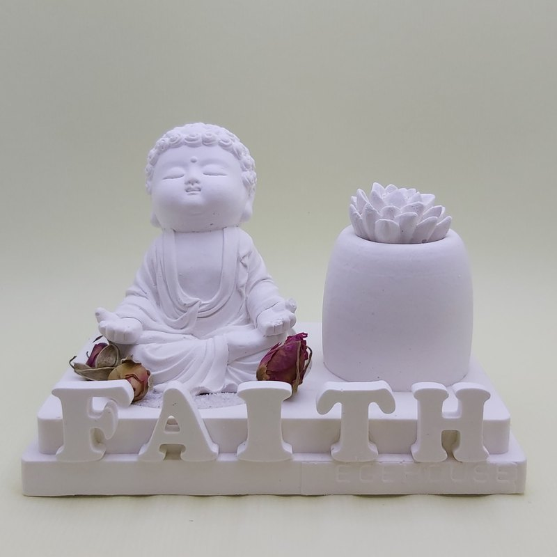 Miniature Small meditation Buddha B1802f incense  holder, EO container, 2 layers