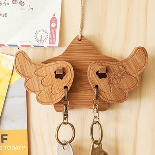【Christmas Gifts】 Happy Happiness // Keychain Hanging Edition Key Holder Keychain home waiting for you to go home for dinner