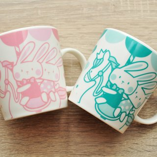 [SUMAIRU] carousel smile mug _ pink lake green pair cup group | period limited price
