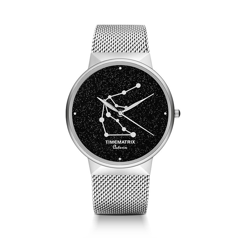 [Denmark] Brilliant Star Time Matrix constellation Aquarius creative fashion quartz watches for men and women