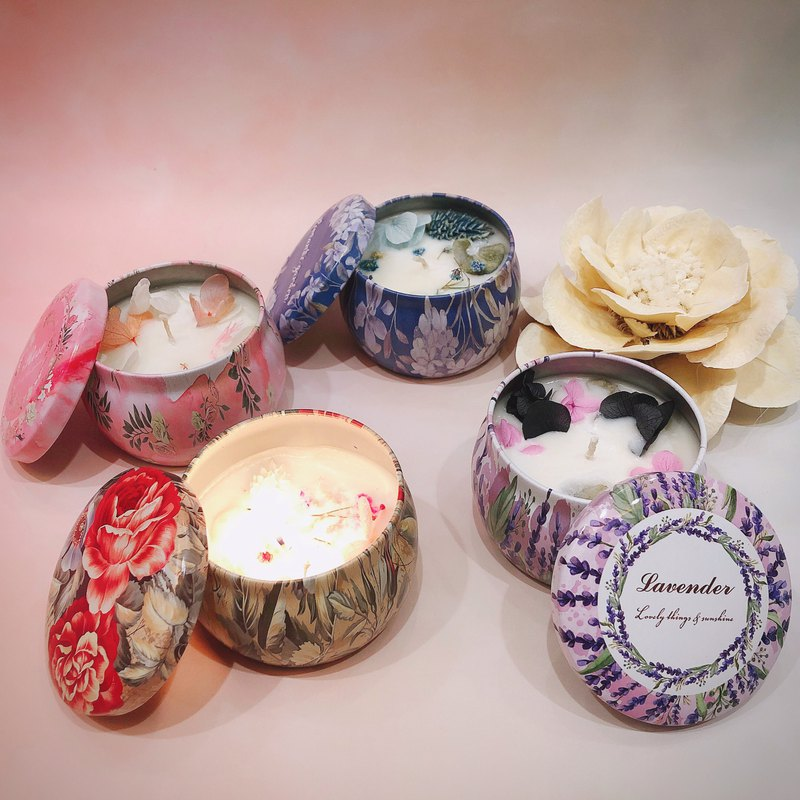 Dry flower essential oil soy candle 3 into gift box set