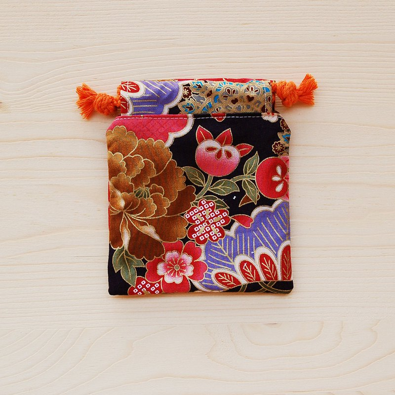 Gorgeous Peony Drawstring Pocket (Mini)/Seal Bag Jewelry Bag