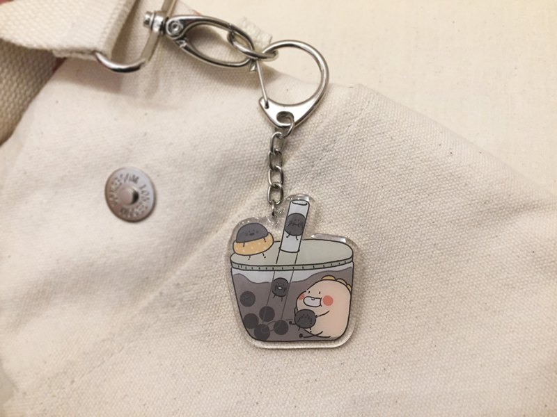 Play mud small meat and chew small pearls / acrylic charm