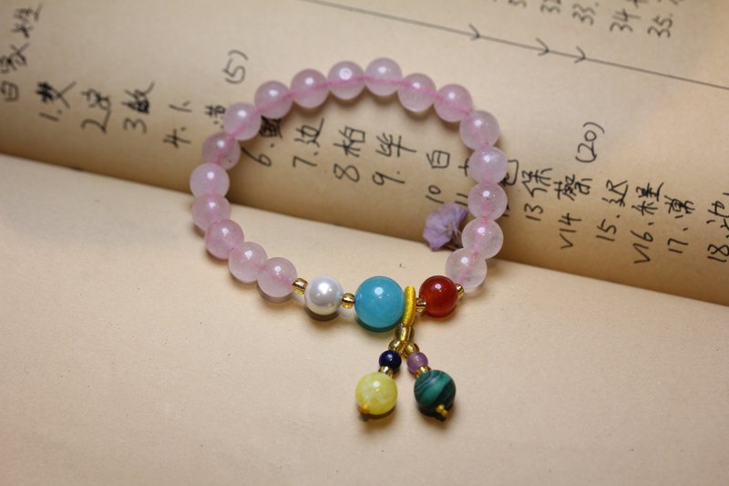 Pink Crystal Bracelet Female Pink Crystal Bracelet Madagascar Pink Crystal Bracelet Single Ring