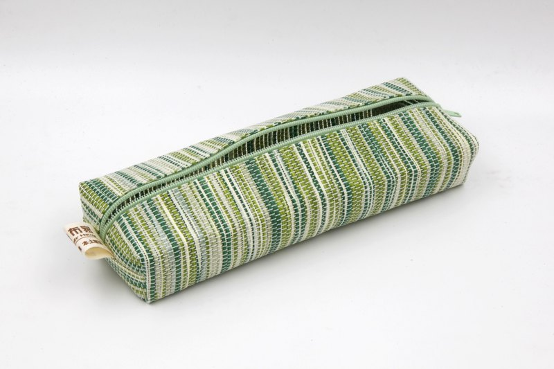 【Paper cloth】 Pen bag, stationery bag (corrugated green)