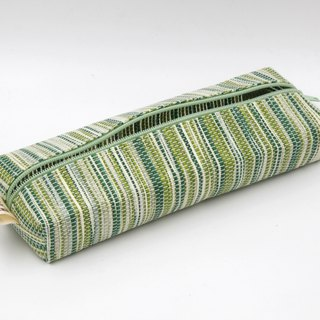 【Paper Cloth】Pen and stationery bags (corrugated green)