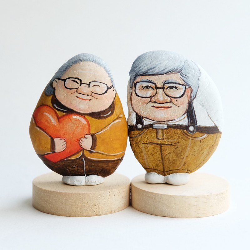 Valentine gift The Couple Grandparents Stone painting gift for someone you love.