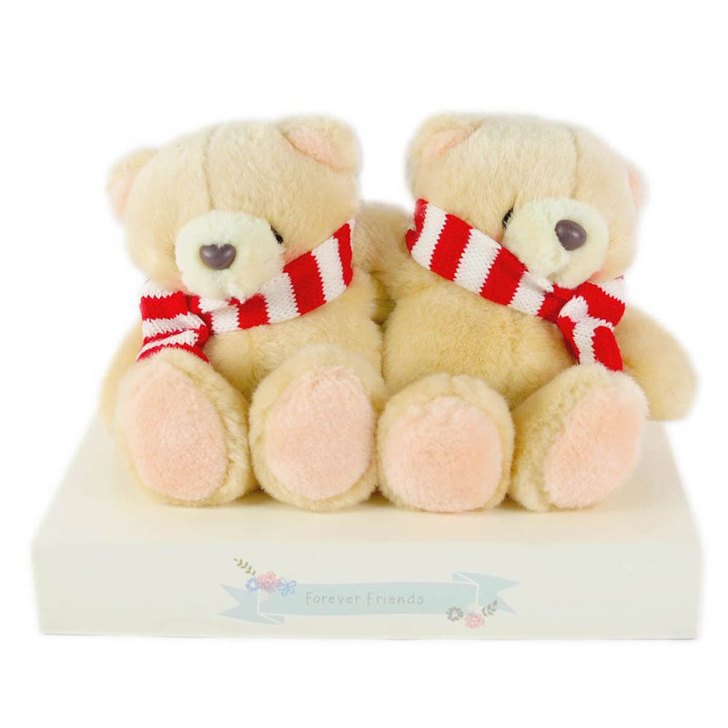 4.5吋/Double Scarf Plush Bear [Hallmark-ForeverFriends Lover Series]