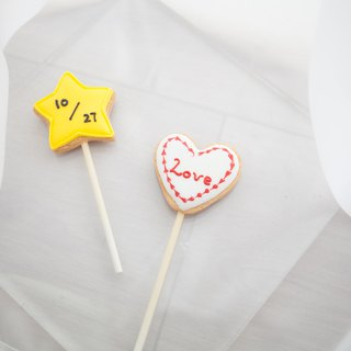 Good affair icing lollipop wedding small things / objects / table ceremony / bridesmaid ceremony