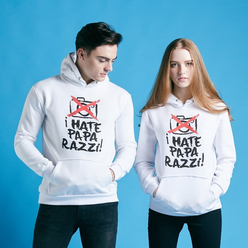 British Fashion Brand -Baker Street- I Hate Paparazzi Printed Hoodie
