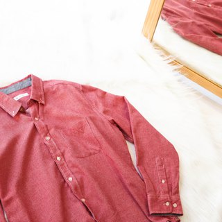 River Water Mountain - Aichi Flames Red Red Cool Tea Autumn Wind Antique Cotton Shirt Jacket