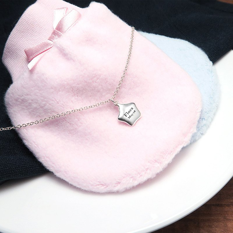 Little Star Parent-child Necklace (14+2 inches) 925 Sterling Silver Customized Necklace