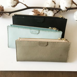New color _ leather long clip _8 card layer _2 banknote layer _ coin bag _ long wallet