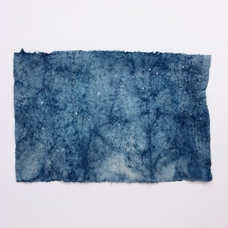 Blue dye and paper