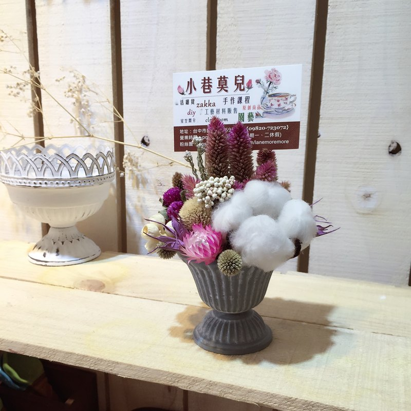 [Spring. Sunny breeze]. Handmade dried flower card holder / flower design office dual therapy was smaller wedding arrangement Card Holder