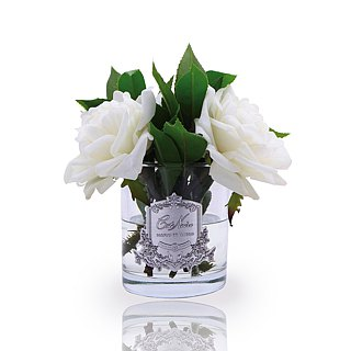 CoteNoire Fragrance Flower - Ivory White British Royal Rose Fragrance Flower