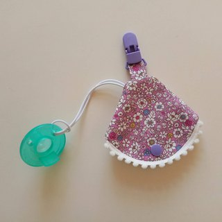 Small cotton ball purple bottom small flower nipple dust cover clip nipple clip + pacifier set vanilla nipple pacifier bag
