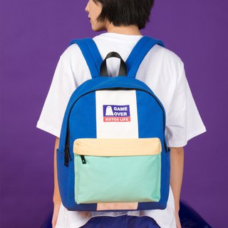KIITOS Tokyo Love New Contrast Embroidered Print Backpack - Blue GAME OVER Backpack