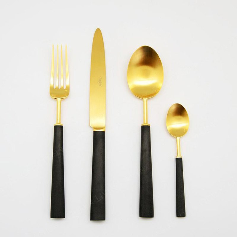 | Cutipol | EBONY Matte Gold 4 Pieces Set