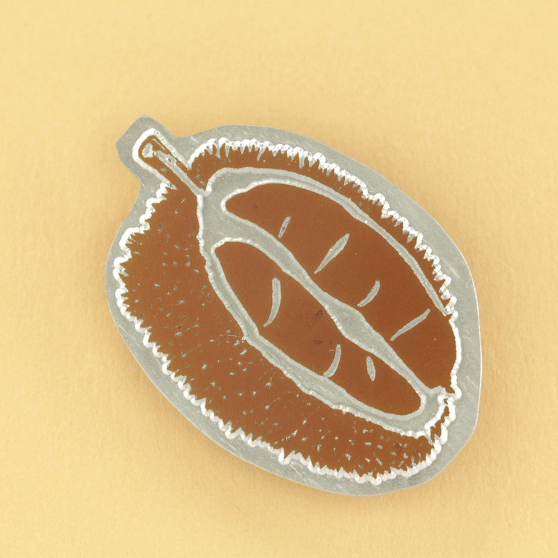 Durian Letterpress Brooch