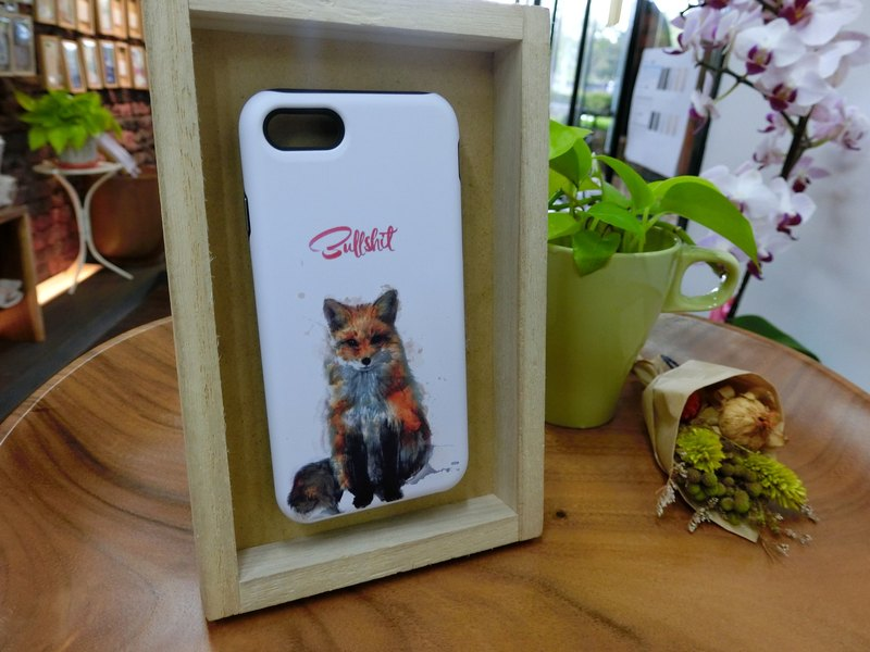 "3D Protective Bumper Case climax ""painted little fox"" / gentle touch han scratch Phone Case [Customizable aircraft models: iPhone Full Model / Series NOTE.S Samsung / LG]"