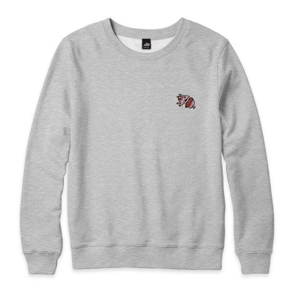 nice to MEAT you - Pig - Deep Heather Grey - neutral version of the University of T