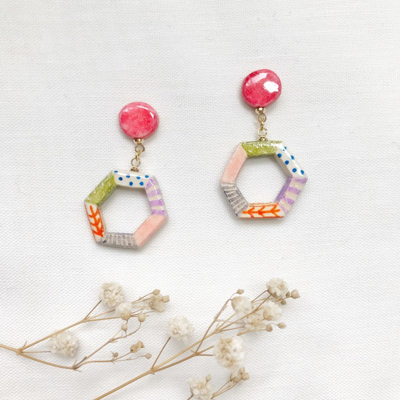 Summer Garden Tour - Handmade / Hand Drawn Earrings