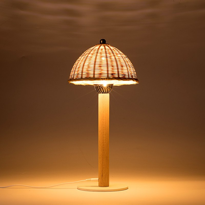 D type bamboo mushroom lamp garden lamp weaving lamp Chinese night lamp
