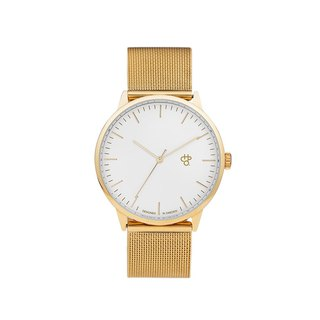 Chpo Brand Swedish Brand - Nando Series Gold White Dial - Gold Milan with Adjustable Watch
