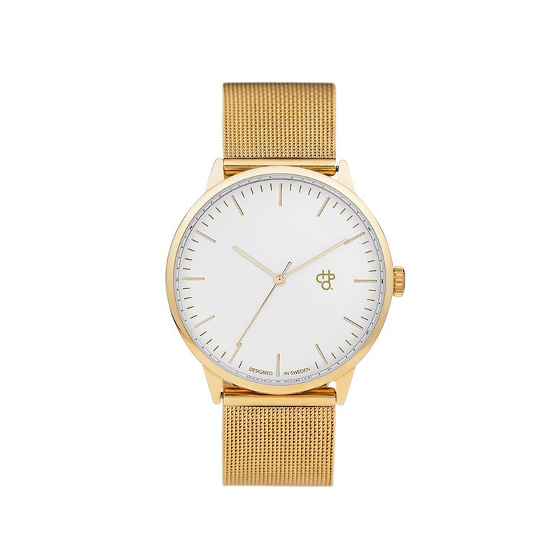 Chpo Brand Swedish brand-Nando series gold and white dial-gold Milan with adjustable watch