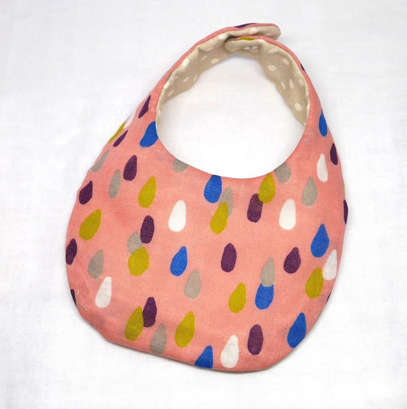 Japanese Handmade 4-layer-double gauze Baby Bib /drop pink