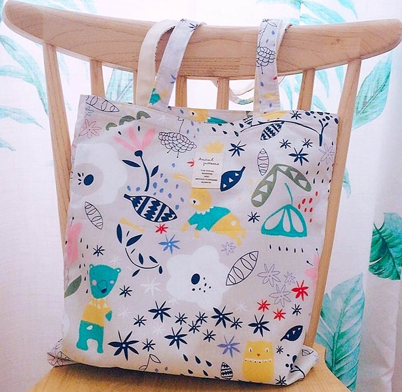 Cotton bag, environmentally friendly cotton cloth bag, shopping bag, tote bag, Wenqing large capacity, one shoulder, Forest