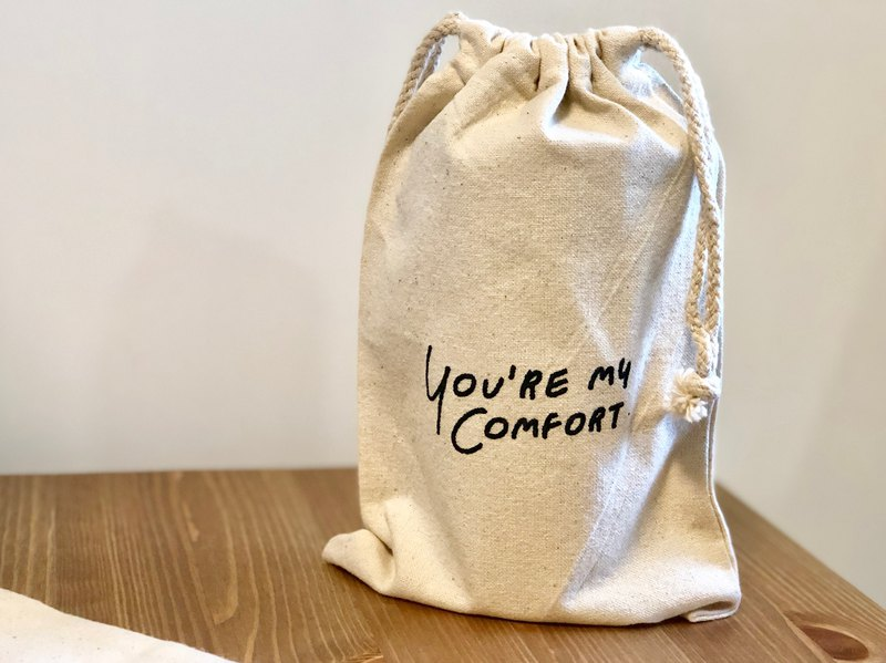 Drawstring Bag / Quote / Hug me