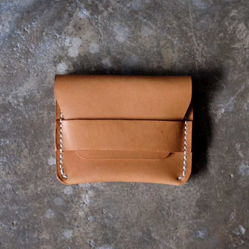 Tan Leather Card Wallet / Card Holder