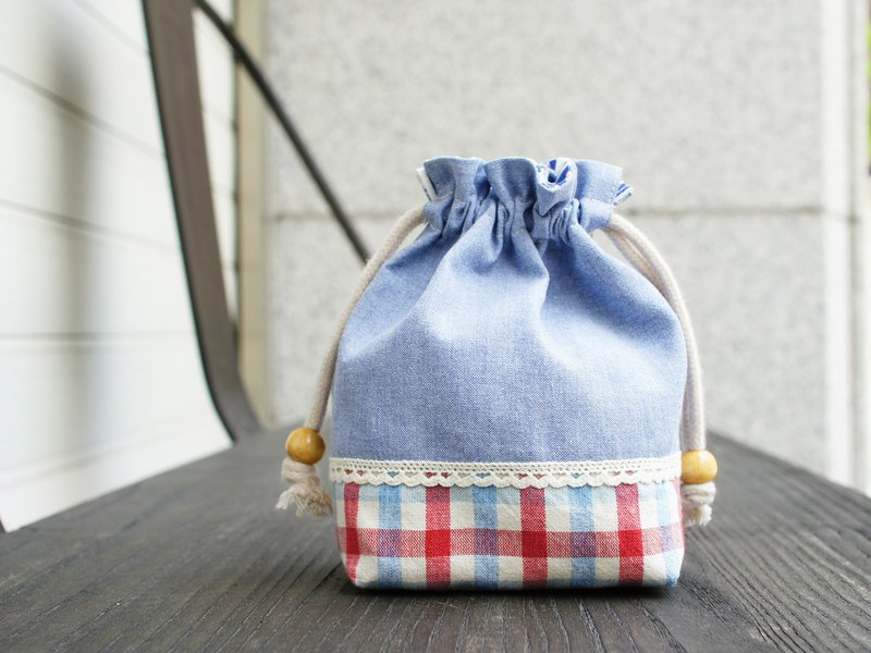 Fresh Breeze of Drawstring pouch-light blue