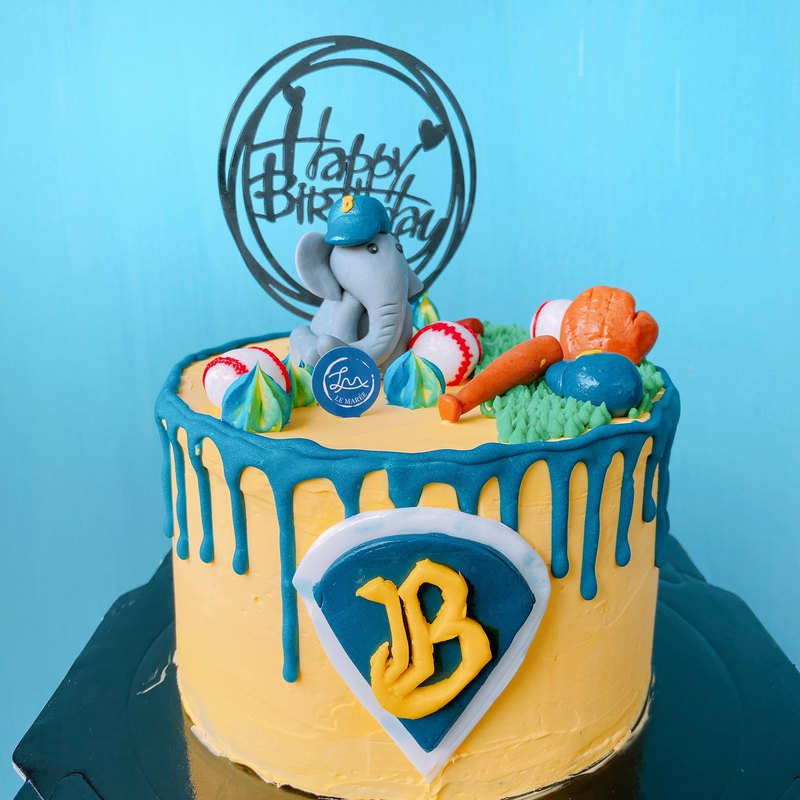[customized cake] brother like baseball cake