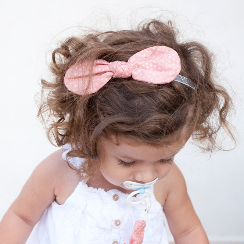 American Joli Sophie cotton butterfly silver onion hair band 2 into white JSHB2CHWP one year old ~ three years old