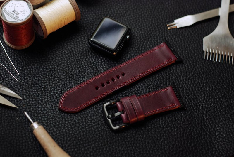 [Limited in the limited offer] applewatch leather hand strap strap - purple [buttero]