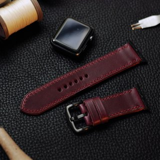 Applewatch leather hand strap strap - purple [Italian Association certification] [buttero]