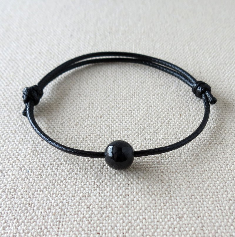 Fashion [Lucky Stone] black-bone chicken jade Korean wax line bracelet ** anti-small, evil spirits, body protection