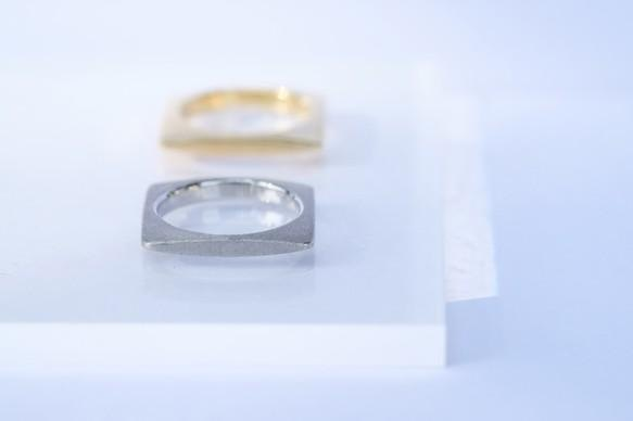 Square ring (silver) --石なし--