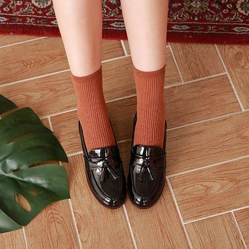 PRE-ORDER – 韓國人手製 MACMOC Movin (BLACK) 流蘇樂福鞋
