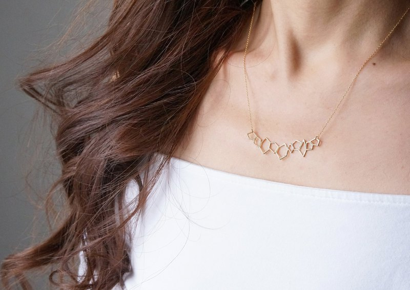【Israel】14KGF Necklace,Abstract-005-