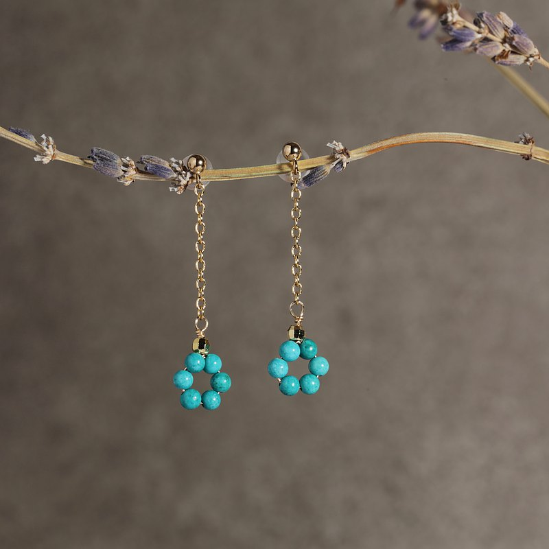 Turquoise Turquoise Natural Stone Earrings