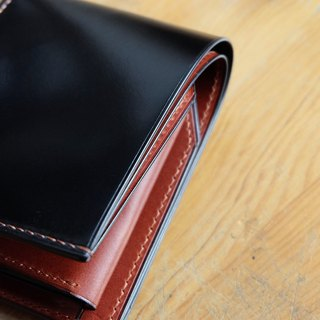 Mildy Hands - SW01COIN - Black Horween shell cordovan wallet