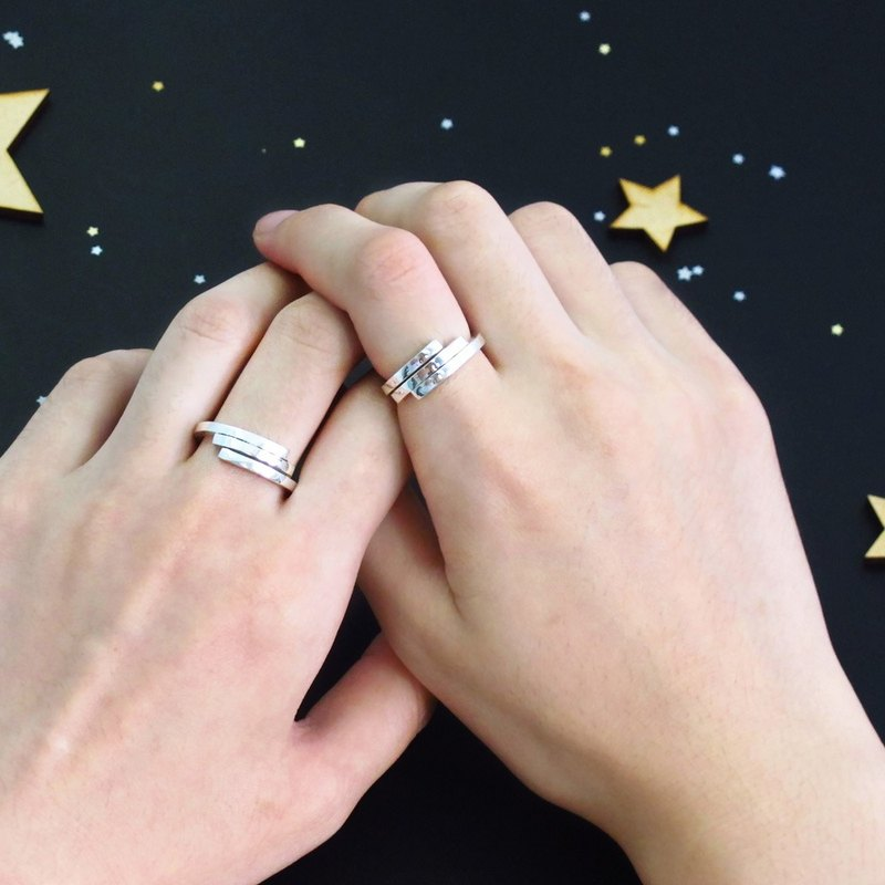 Lovers Rings Trails Star Trails Trails Stars Silver Rings 2