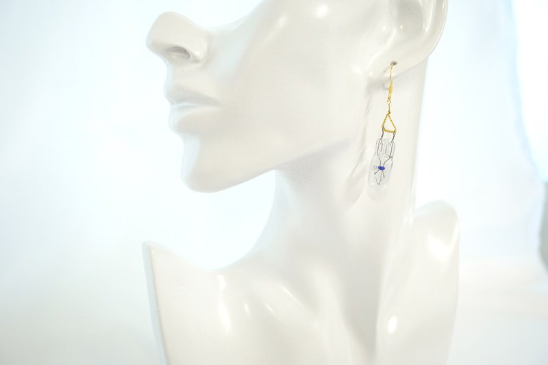 【P-4】(Gold)Electronic parts pierced earrings/components/miniature wedge bulb