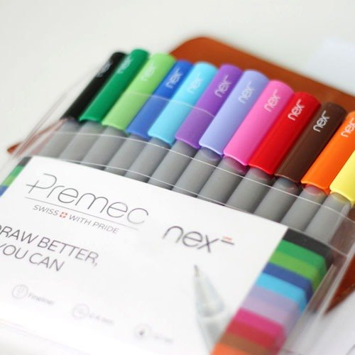 PREMEC Swiss Pen | LINE delicate fresh water pen 0.4mm 12 colors